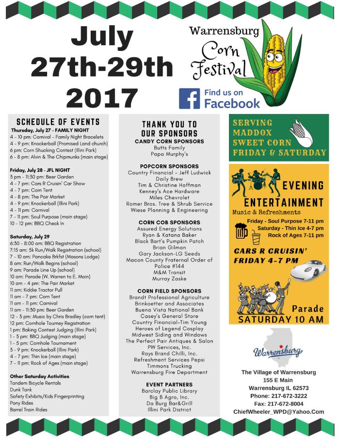 Corn Fest Flyer PNG