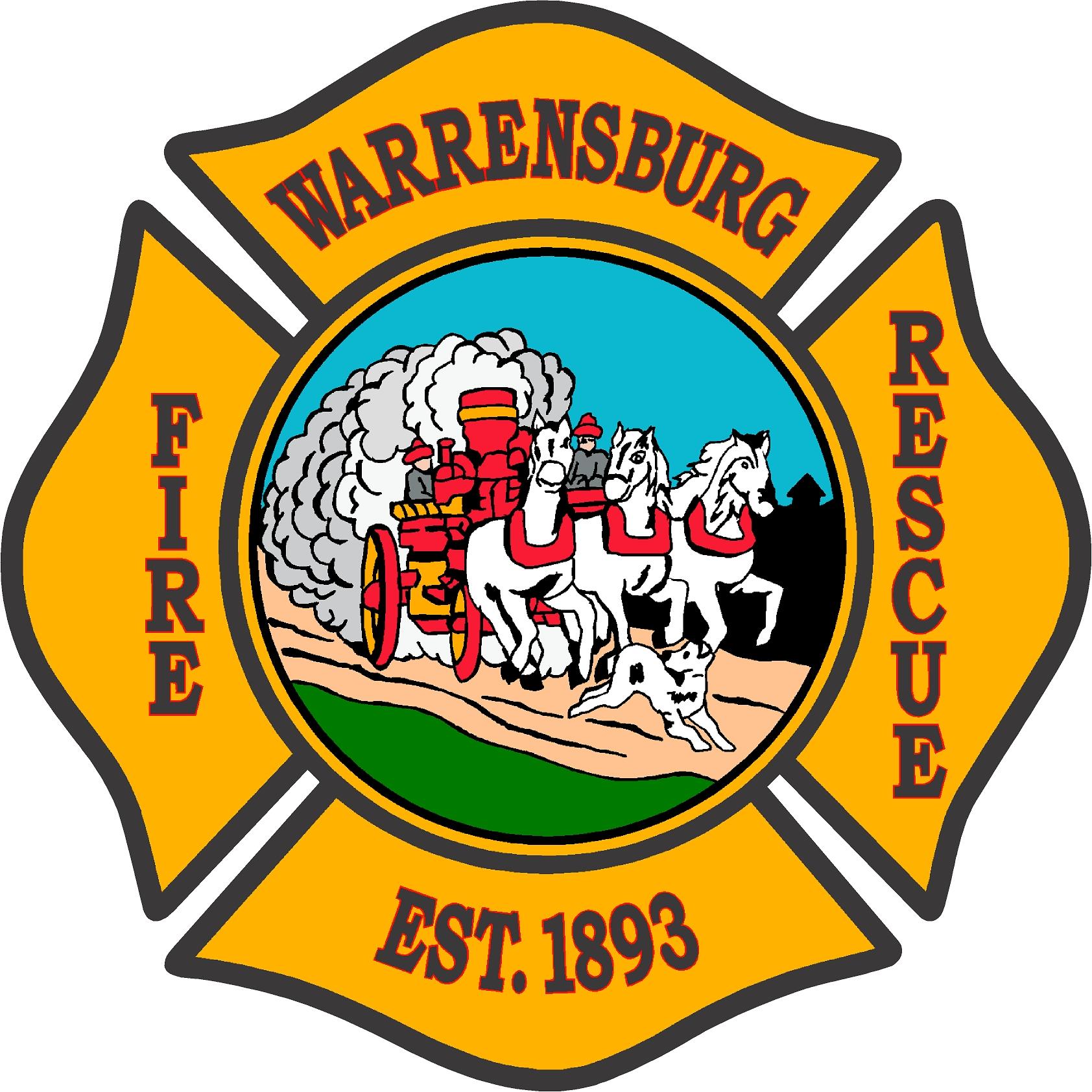 Warrensburg Fire Rescue logo w horses